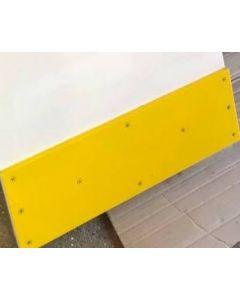 kick plate or hockey rink dasher board