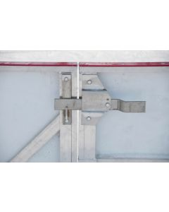 latch system hardware for rink service gate and player door