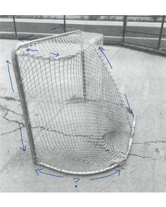 REPLACEMENT NETTING FOR ICE HOCKEY GOAL NET NET-TRIMMED, FITS UP TO 44in DEEP- 20in TOP SHELF