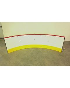 Hockey Rink Dasher Board Residential PRO Series - Radius Corner 5ft Length - Front View